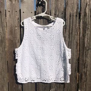 Abercrombie & Fitch eyelet top